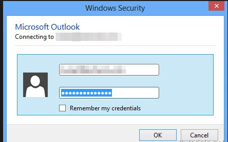 Outlook Prompt For Username And Password | SkyViewTek
